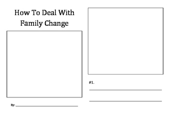 How To Deal With Family Change student booklet