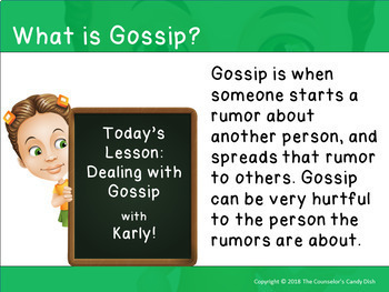 How To Deal With Gossip - An Interactive PowerPoint / Whiteboard Lesson