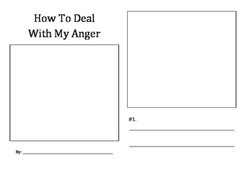 How To Deal With My Anger student booklet