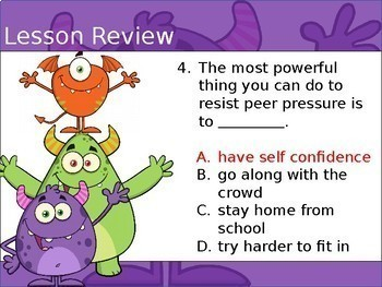 How To Deal With Peer Pressure - Interactive PowerPoint / Whiteboard Lesson