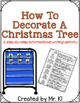 how to decorate a christmas tree writing - Steps To Decorating A Christmas Tree