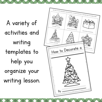 How To Decorate a Christmas Tree Writing and Sequencing Activity