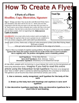 How To Design and Create A Flyer Lesson Plan