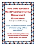 How To Do Fourth Grade Word Problems Involving Measurement Conversions