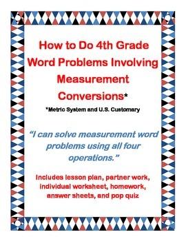 How To Do Fourth Grade Word Problems Involving Measurement