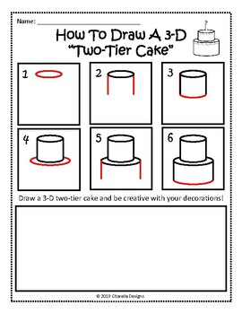 How To Draw A 3-D Two-Tier Cake: Step-by-Step Guide