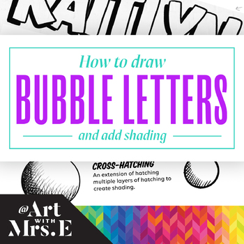 How To Draw Bubble Letters + Add Shading