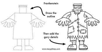 How To Draw Frankenstein - Ideal for Halloween!