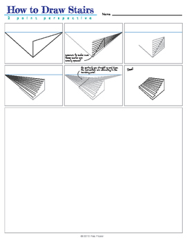 How To Draw Stairs - 2 Point Perspective