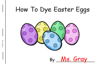How To Dye Easter Eggs ~ Writing