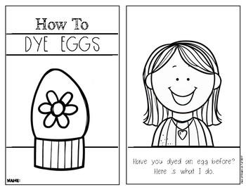 How To Dye Eggs {Non Fiction} Spring Easter Reader - Kindergarten & First Grade