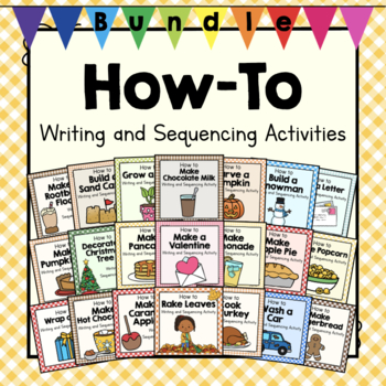 How-To Early Writing and Sequencing Bundle