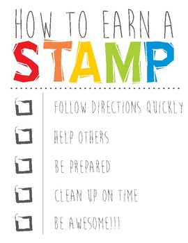 How To Earn a Stamp