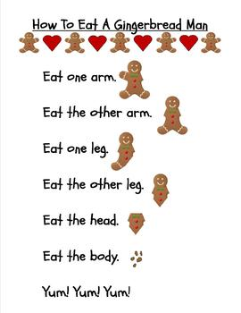 How To Eat A Gingerbread Man -Poem and Pocket Chart Activity