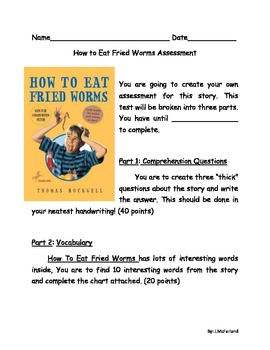 How To Eat Fried Worms Assessment