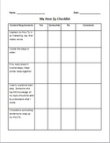 How-To Essay Checklist and Grade Sheet