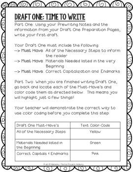 How-To Essay: Multi-Draft Explanatory Writing for Grade 5 (CCSS)