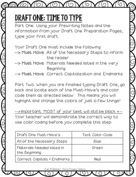 How-To Essay: Multi-Draft Explanatory Writing using Google Docs {CCSS}