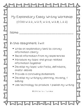 How-To Essay: Multi-Draft Explanatory Writing for Grade 2 (CCSS)