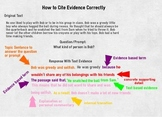 How To: Evidence and Elaboration
