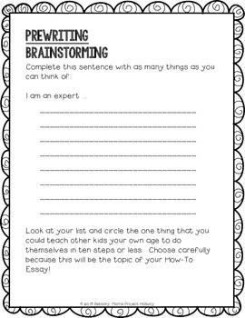 How-To Essay: Multi-Draft Explanatory Writing for Grade 3 (CCSS)