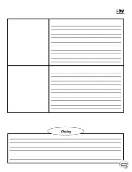 How-To Expository Writing Homework Template / Graphic Organizer