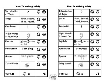 How-To / Expository Writing Student Friendly Rubric - 8 Points