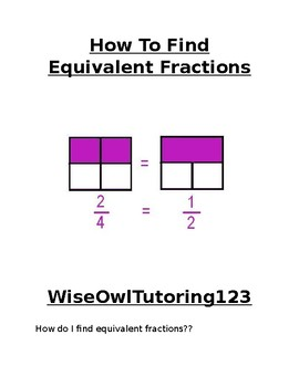 How To Find Equivalent Fractions