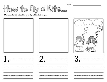How-To Fly a Kite - Writing Activity 1st and 2nd Grade Common Core Aligned