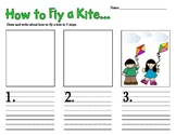 How-To Fly a Kite - Writing Activity 1st and 2nd Grade Com