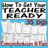 How To Get Your Teacher Ready * Comprehension Book Companion FUN * Back School