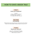 How To Give A Book Talk Visual