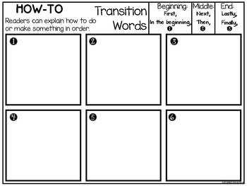How To Graphic Organizer - Differentiated