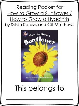 How To Grow a Sunflower / Hyacinth Literature Packet