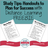 Study Tips: Handouts to Plan for Success With Distance Lea