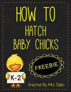 How To Hatch Chicks Writing Template