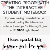 How To Implement the Interactive Student Notebook with Rigor and Depth