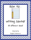 """""""How To"""" Independent Writing Center"""
