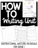 How-To Informational Procedural Writing, Complete Instructional Set