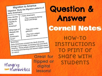 How-To Instructions: Q&A Cornell Notes