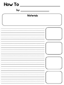 How-To Instructions Writing Paper {FREEBIE}
