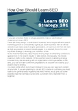 How To Learn SEO | The Proper 10 Ways that Nobody Tells You