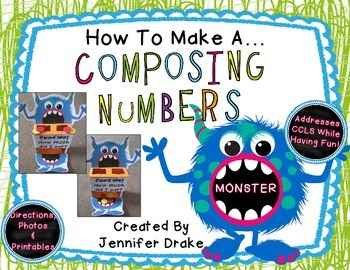 How To Make A Composing Numbers Monster! PLUS Printables! *FREE*