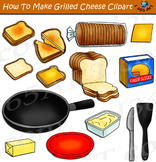 How To Make A Grilled Cheese Sandwich Clipart