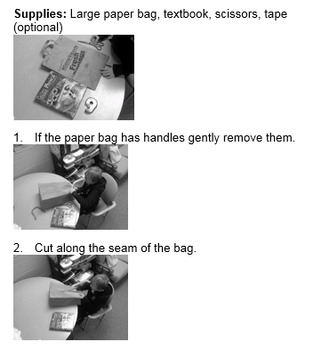how to make a paper bag book cover without tape