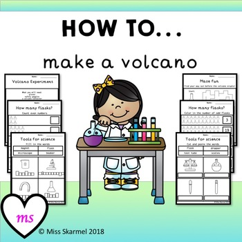 How To Make A Volcano - includes experiment, math and spelling + more