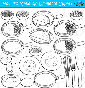 How To Make An Omelette Clipart