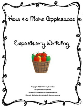How To Make Applesauce Expository Writing