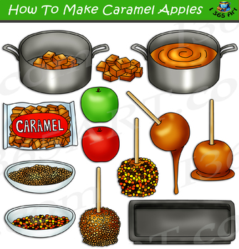 How To Make Caramel Apples Clipart Candy Apple Clipart Tpt
