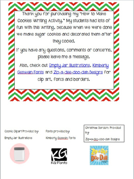 How To Make Cookies Writing Activity